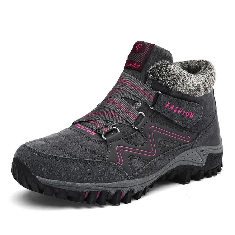 外贸大码女鞋冬季新款妈妈鞋wish亚马逊爆款EBAY户外雪地靴加棉鞋