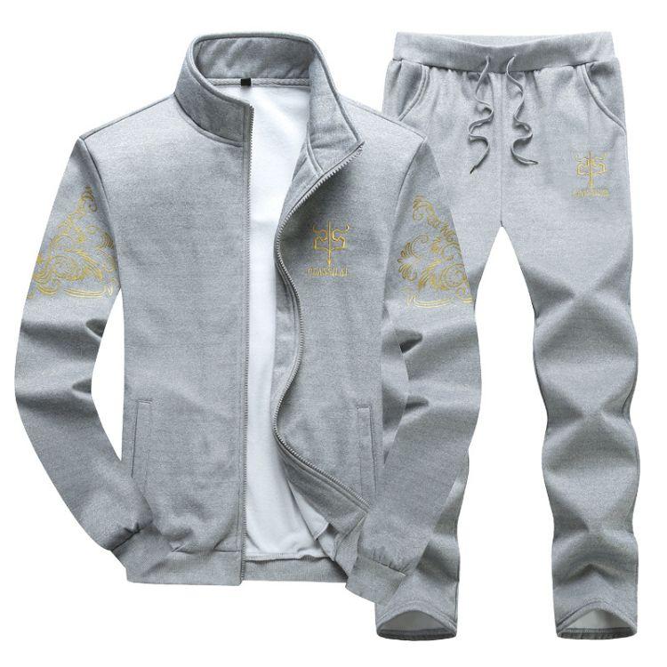 运动套装男春秋女长袖户外休闲跑步运动服情侣运动两件套休闲卫衣