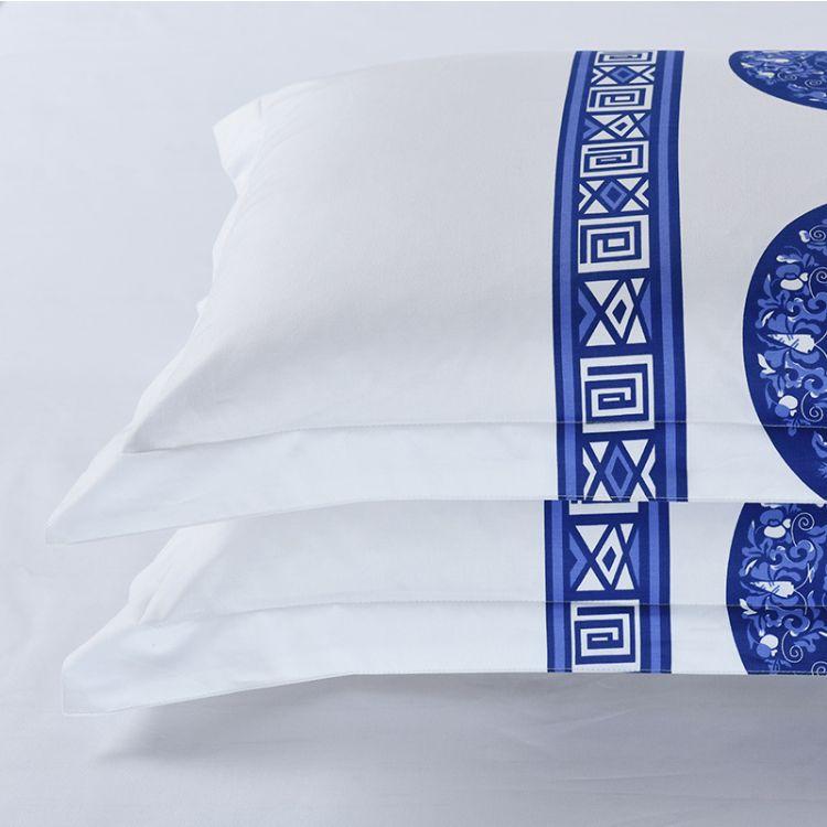 酒店床品 酒店用品布草 厂家直销 纯棉枕套 床上用品批发