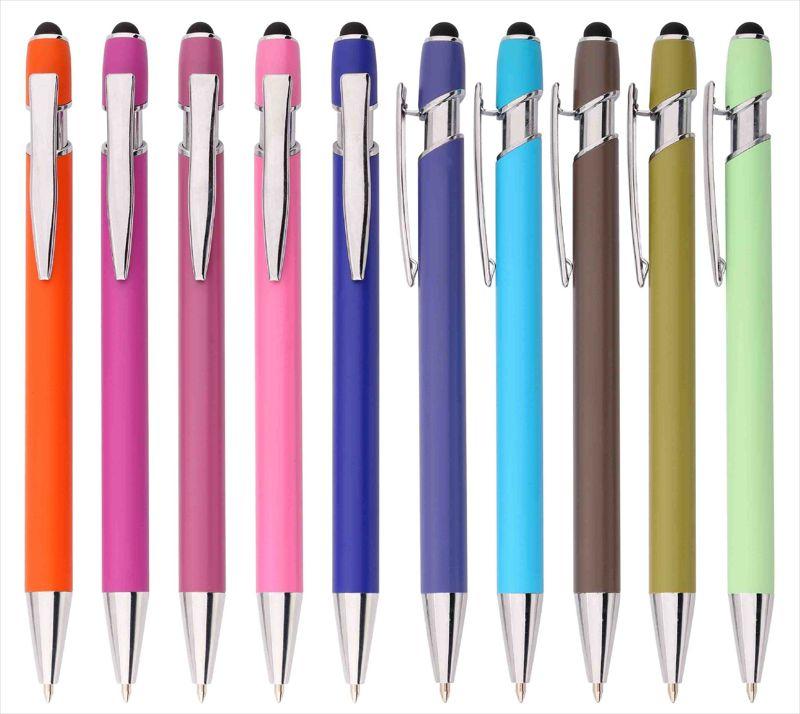 电容触控笔头 美极笔烤漆杆金属铝管笔 红外线镭射LOGO促销黑色笔