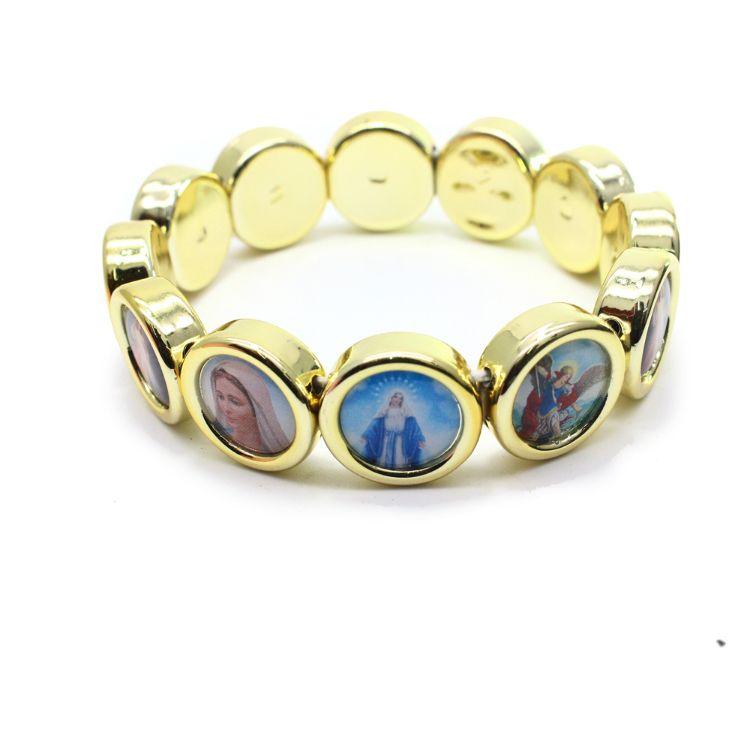 天主教基督耶稣圣像贴纸ccb弹力手链手环宗教饰品手饰图案随机