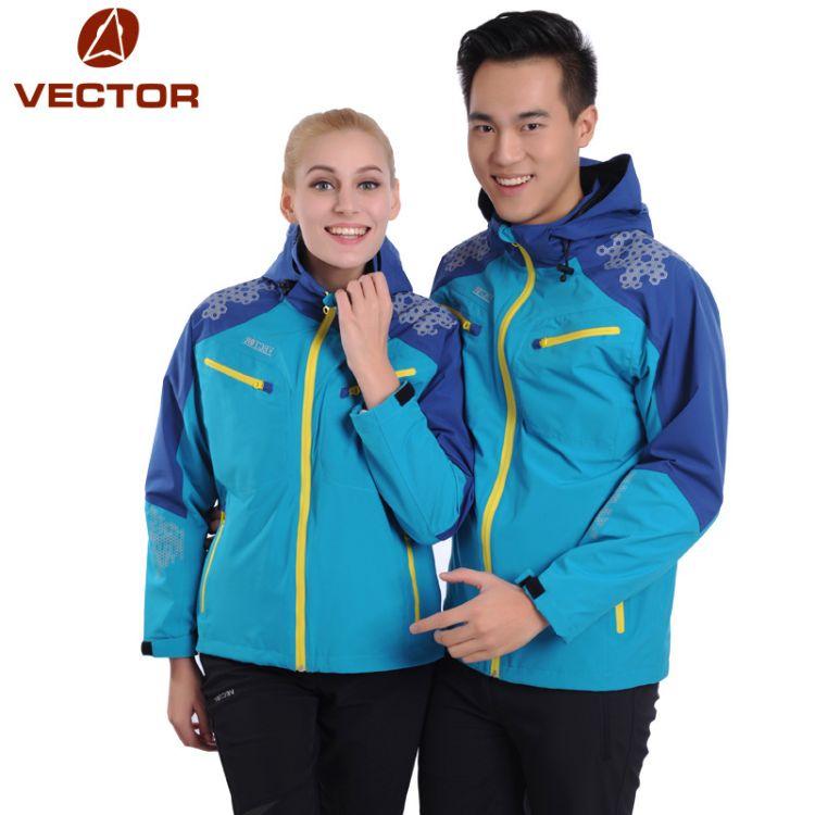 跨境专供VECTOR单层防水情侣款冲锋衣 薄款保暖冲锋外套男女冲锋