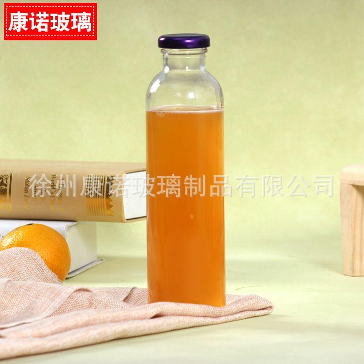 铁盖饮料瓶冷泡茶玻璃瓶冷饮玻璃泡茶瓶 泡茶瓶果汁奶茶瓶可定制
