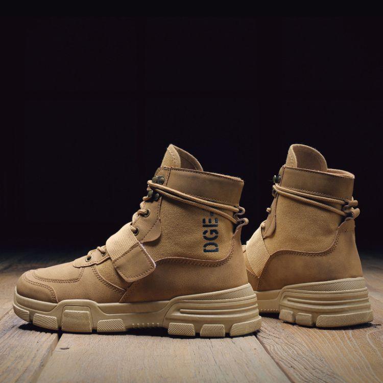 马丁靴男靴子高帮雪地男鞋冬季中帮短靴潮工装沙漠靴英伦复古百搭