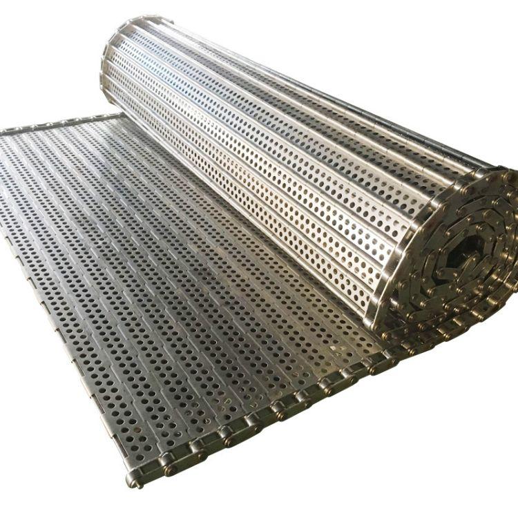 不锈钢链板输送带 葡萄干清洗烘干输送链板流水线 304链板式网带