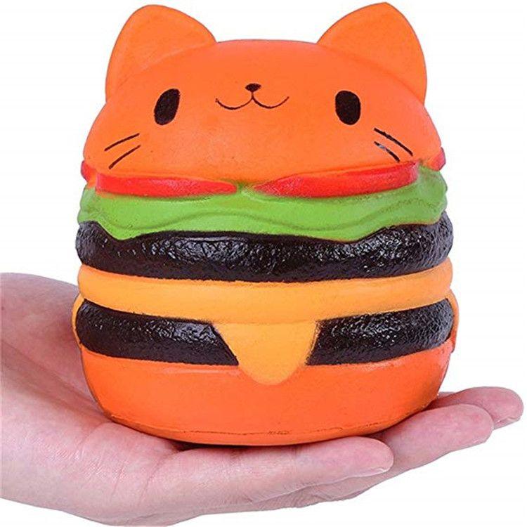 squishy新品慢回弹  慢回弹汉堡猫 squishy汉堡猫 仿真慢回弹汉堡