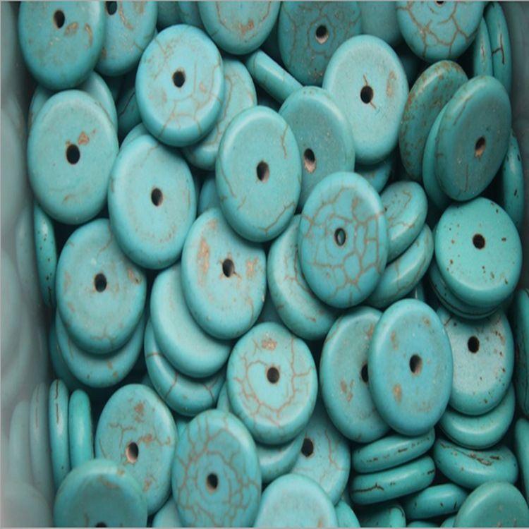 优化 绿松石碟珠散珠水晶 手工串珠 DIY饰品配件半成品隔片 批发