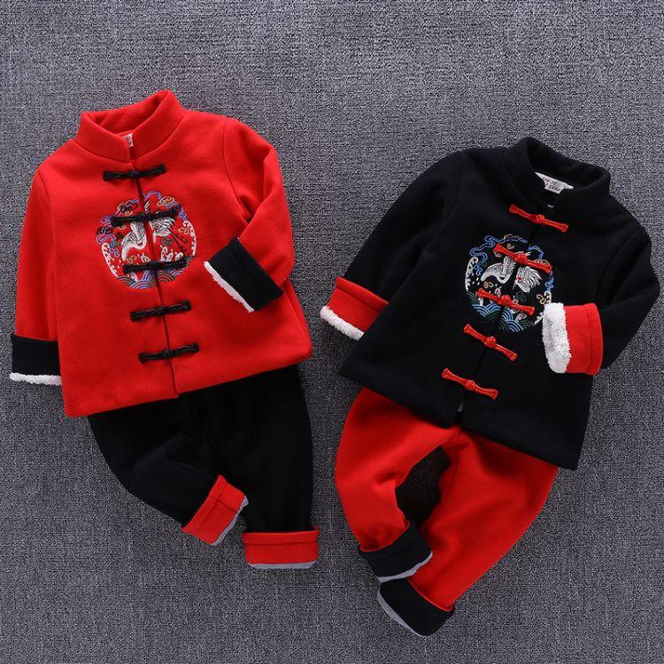 男童套装女童拜年服儿童新年喜庆衣服宝宝装唐装过年中国风汉服冬