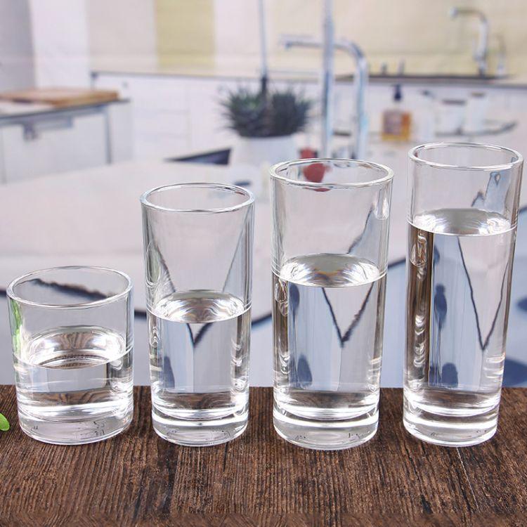 批发直身玻璃水杯 果汁杯玻璃杯餐厅杯家用水杯  可定制LOGO