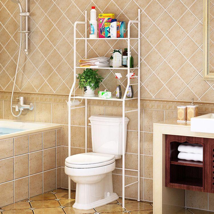 雅锐凡马桶置物架 卫浴三层收纳架卫生间浴室整理架洗衣机架