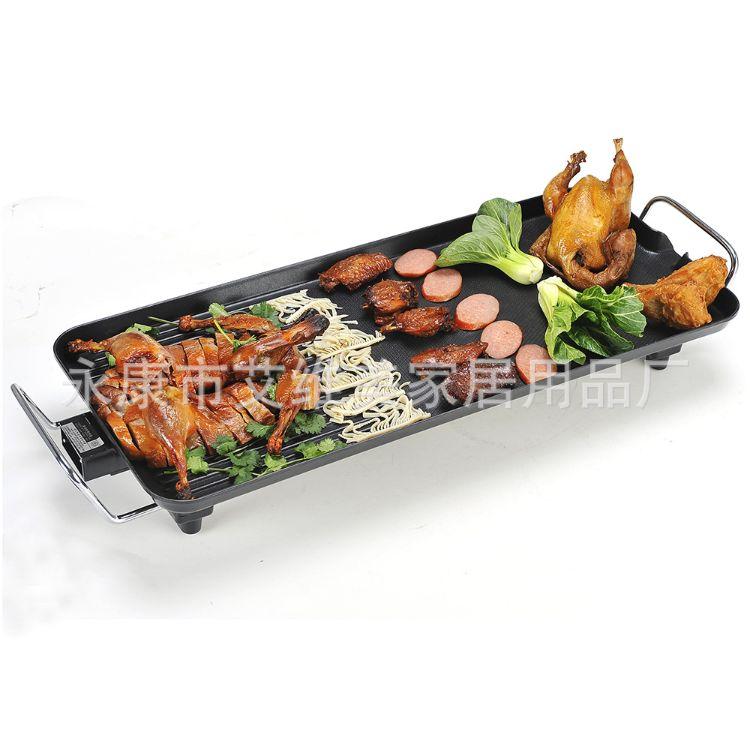 韩式多功能电烧烤炉烧烤盘家用无烟不粘方形电热锅电煎锅