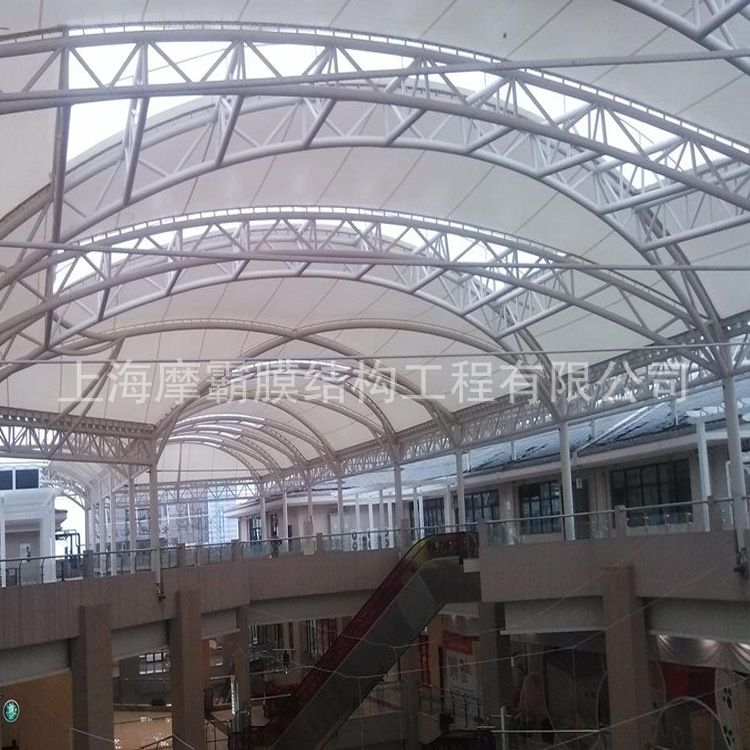 膜结构厂家定做膜结构商业设施工程 膜结构商场顶棚 膜结构天井篷