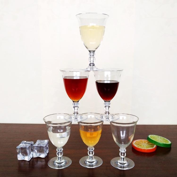 热销透明高脚杯 红酒杯塑料香槟杯创意酒杯批发定制厂家直销