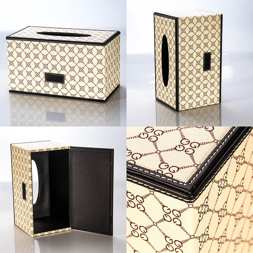皮质长方形纸巾盒 定制大容量酒店餐厅KTV实用型PU抽纸盒 纸巾盒
