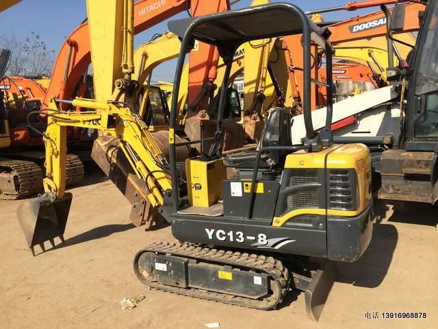 二手挖掘机:【286小时】玉柴13-8挖掘机,小型系列二手挖机