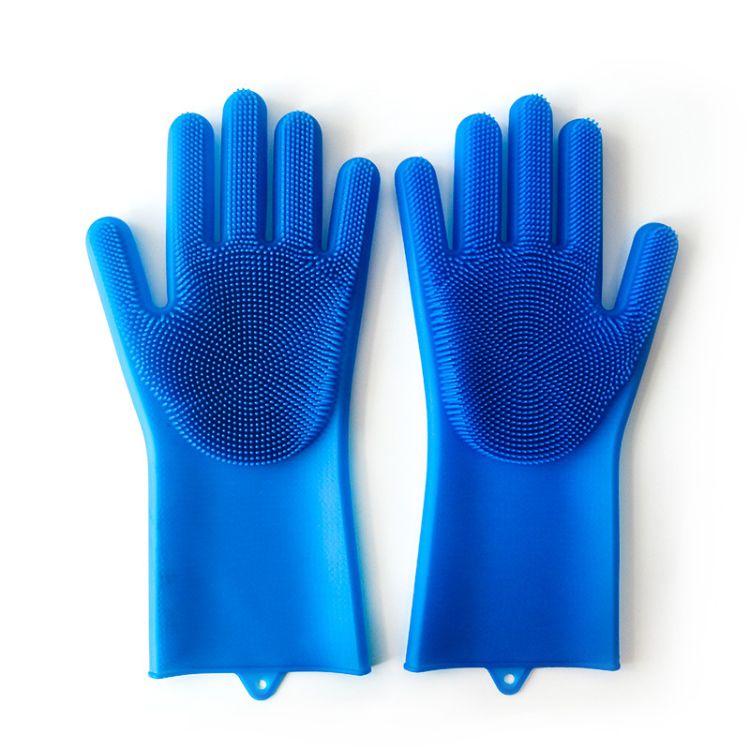 硅胶洗碗手套魔术硅胶手套家务清洁手套厨房工具手套硅胶厨具直销