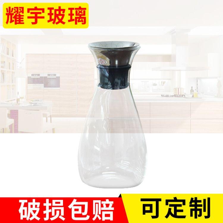 专业生产 加厚玻璃冷水壶大容量凉水壶 耐高温玻璃果汁壶花瓶壶