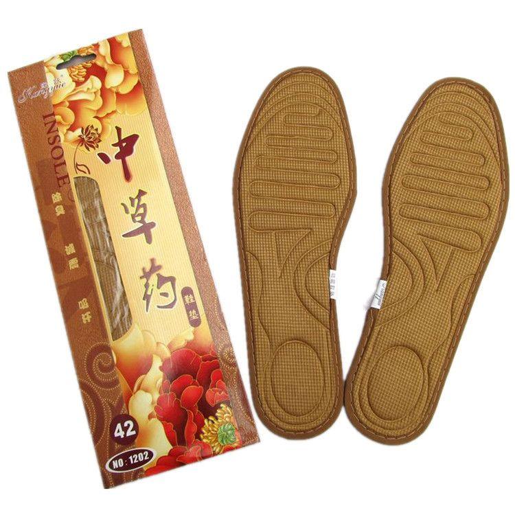 跑江湖男士中草药鞋垫 舒适透气吸汗除臭四季男女通用鞋底批发