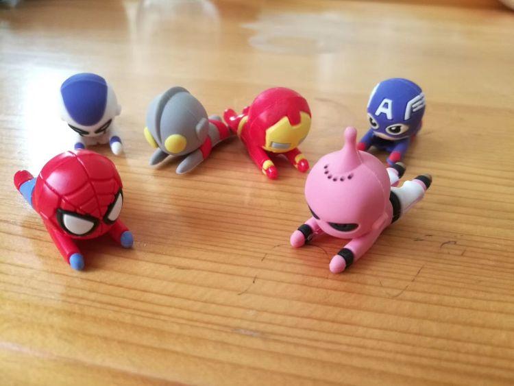 酷酷英雄系列 一口手机数据线保护套英雄造型咬咬����保�o套
