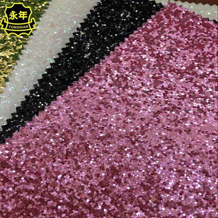 六角片皮革 手机贴皮皮革 闪粉金葱粉皮料 电子包装