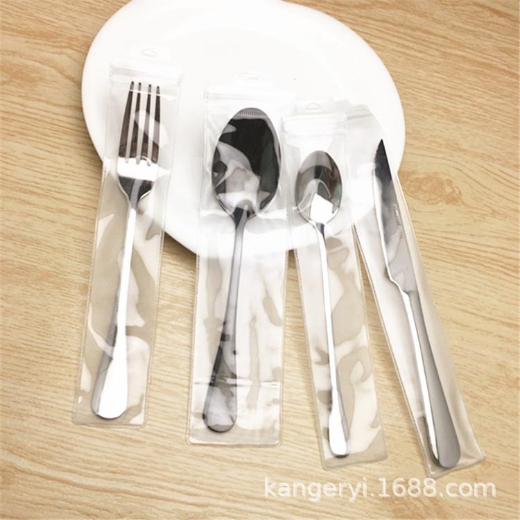 各种规格PVC袋子拉链自封口袋磨砂加厚餐具包装袋子塑料透明袋子