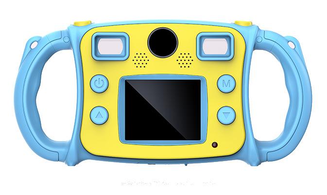 跨境新款儿童防摔趣味数码相机变焦双镜头录像照相机单反玩具批发