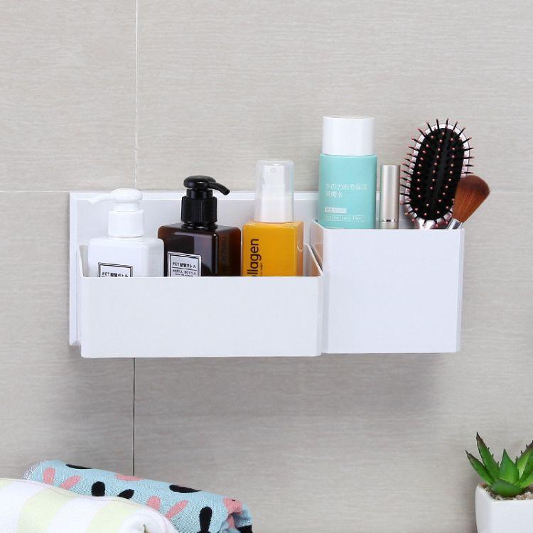 洗手间免打孔浴室置物架卫生间吸盘置物架厕所洗漱台收纳架壁挂