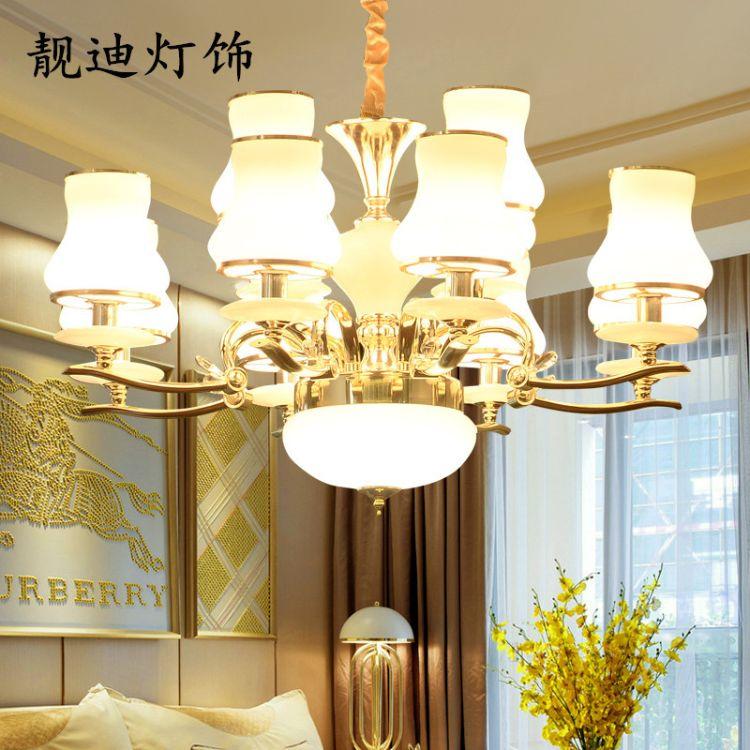 歐式吊燈 酒店工程玻璃吊燈 家居照明蠟燭燈 LED客廳燈 臥室燈