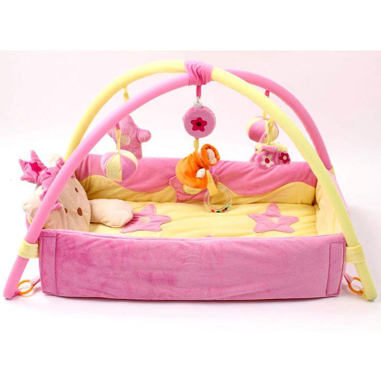游戏毯小公主王子游戏垫爬行毯子爬行垫子支架健身架婴儿音乐玩具