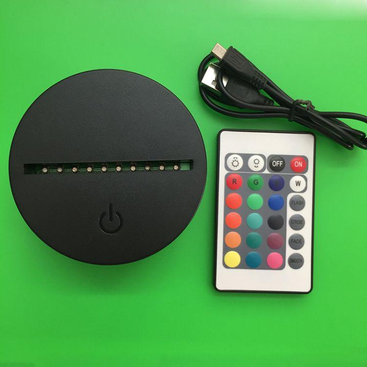 LED灯座创意3D视觉立体灯塑胶灯座 小夜灯底座工艺品台灯座