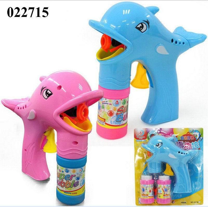 6310A热卖儿童惯性海豚泡泡枪 吹泡泡玩具 泡拍惯性泡泡枪批发