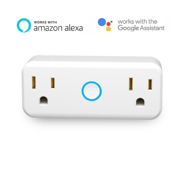 wifi智能插座迷你小巧省空间远程操控亚马逊alexa语音控制