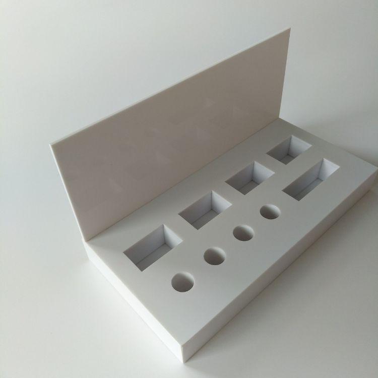 亚克力化妆品展示台架有机玻璃产品陈列架厂家定制彩妆展示柜