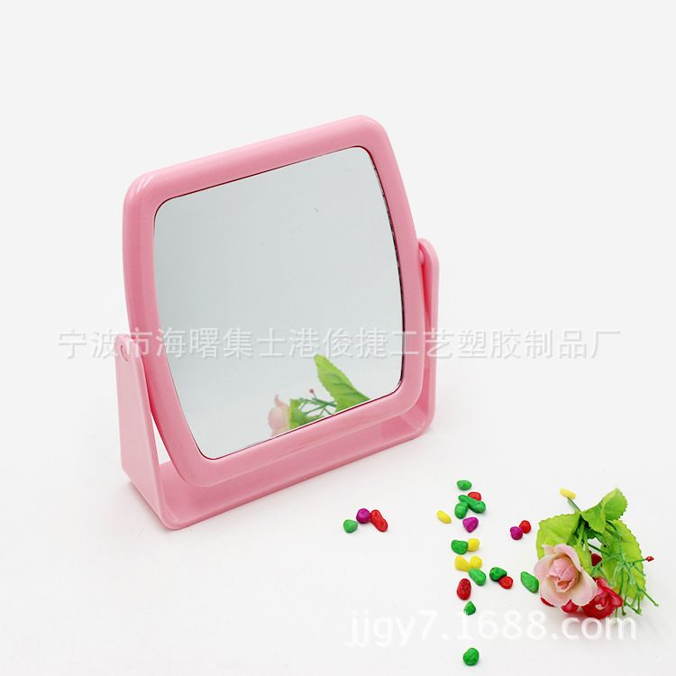 宁波供应韩式化妆镜塑料台式化妆镜塑料化妆镜 双面化妆镜