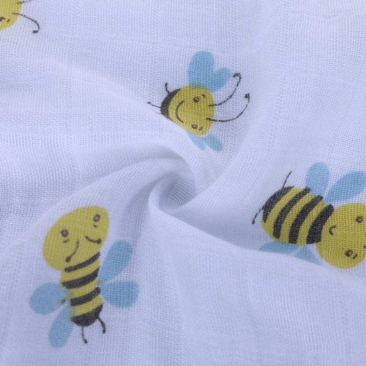 muslin棉纱布包巾襁褓巾纱布盖毯纱布浴巾 双层裹布婴儿抱被包被