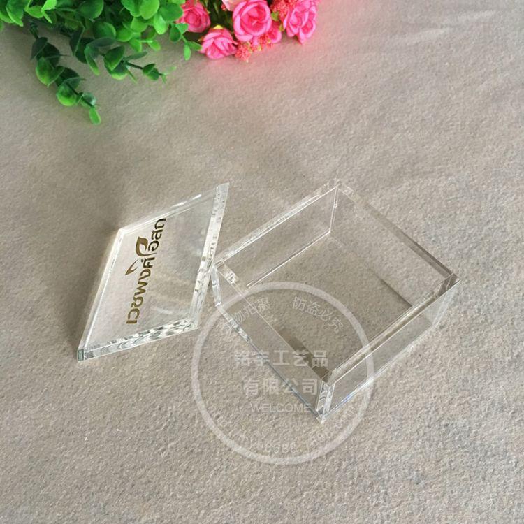深圳定做透明亚克力中药包装盒子 现货有机玻璃有盖收纳盒批发