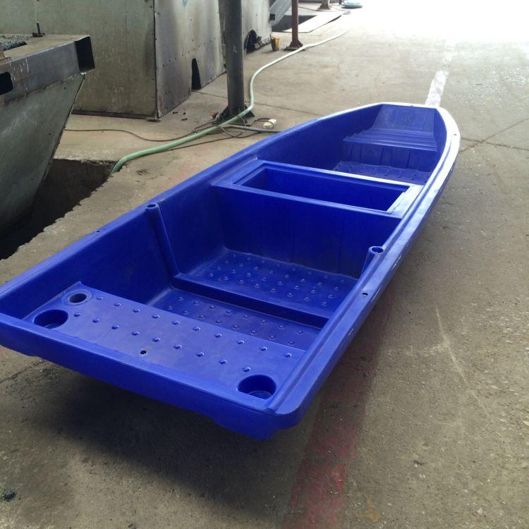 厂家批发3米塑料船带活鱼舱双层塑料船捕鱼船河道清洁塑料船