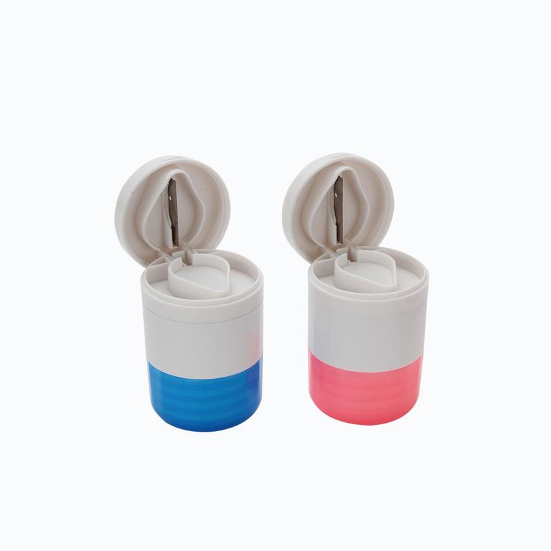 厂家批发 多功能切药盒2018新款磨药+收纳+切药器 塑胶带刀药盒