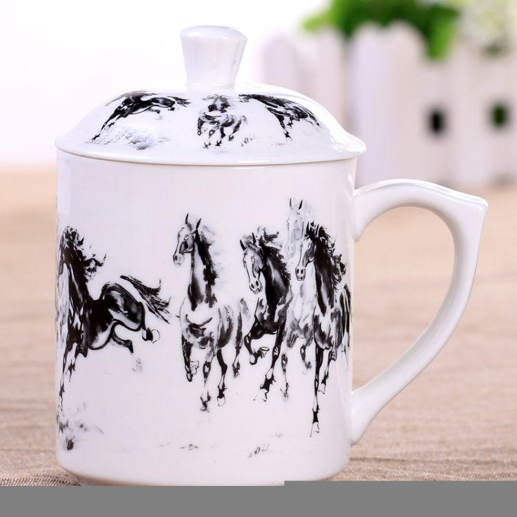 厂家生产白色礼品陶瓷马克杯定制LOGO创意广告促销活动赠品水杯子
