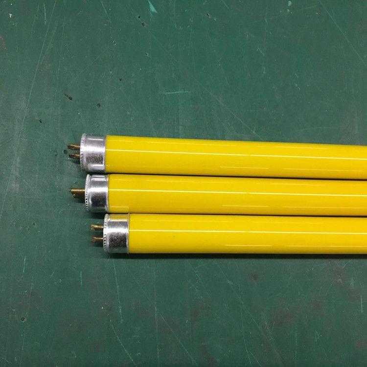 生产T5黄色无紫外线灯管-14W黄色本色管-无尘车间专用