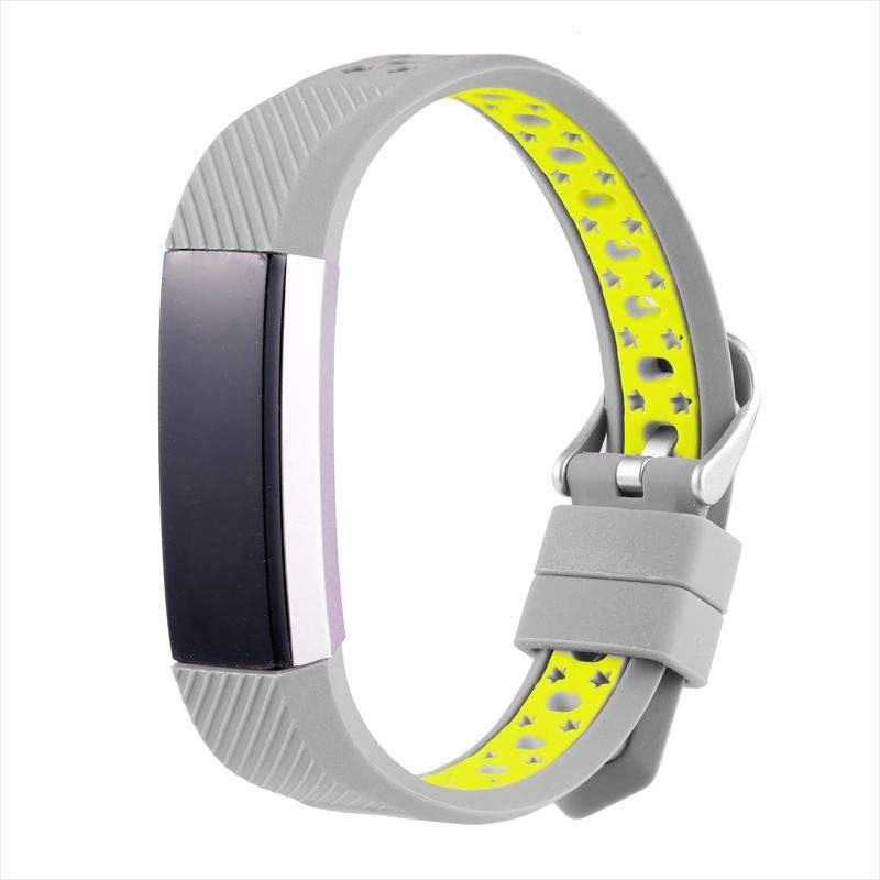 新款适用fitbit alta hr硅胶表带 多彩多色智能手环硅胶表带