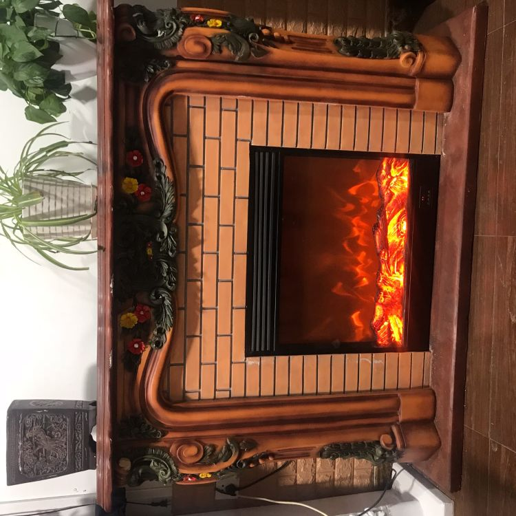 美式乡村 田园风格 仿真火壁炉