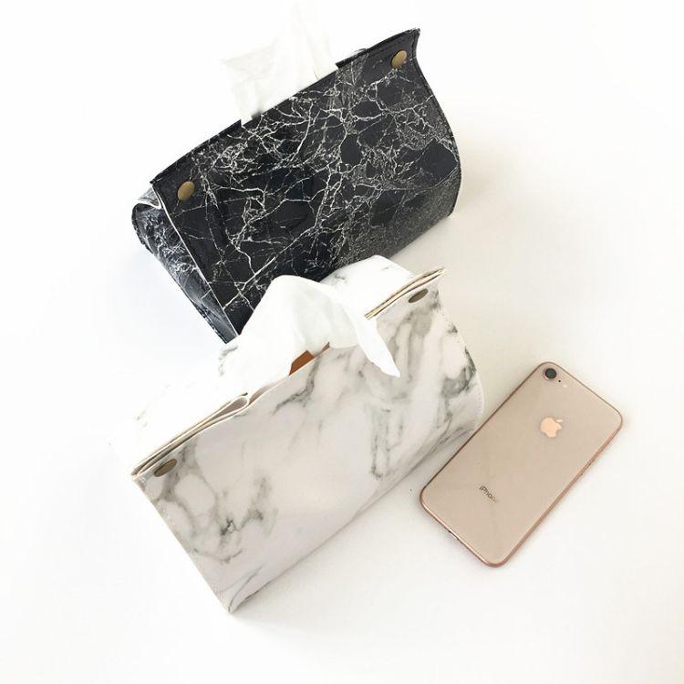 爆款现货 创意家居时尚软体皮质家用纸巾盒 车用纸巾盒PU纸巾盒