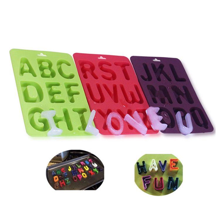 字母巧克力硅胶冰格模具 DIY蛋糕硅胶模具 字母硅胶烘焙模具