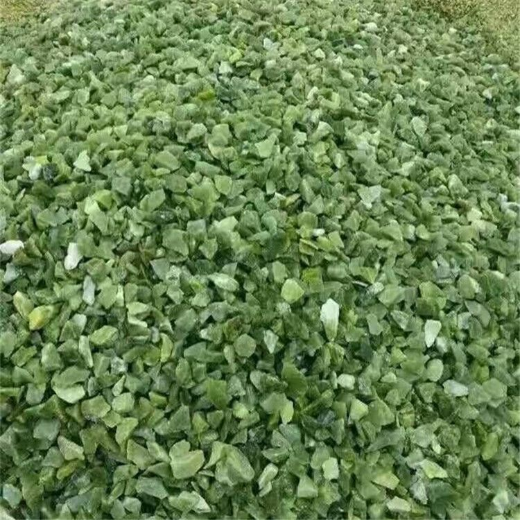 厂家供应透水地坪用绿色水磨石子 绿色洗米石