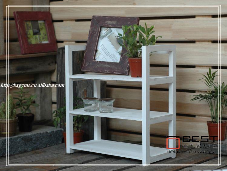 供应置物架 三层置物架 实木置物架 厂家直批置物架 原生态实木架