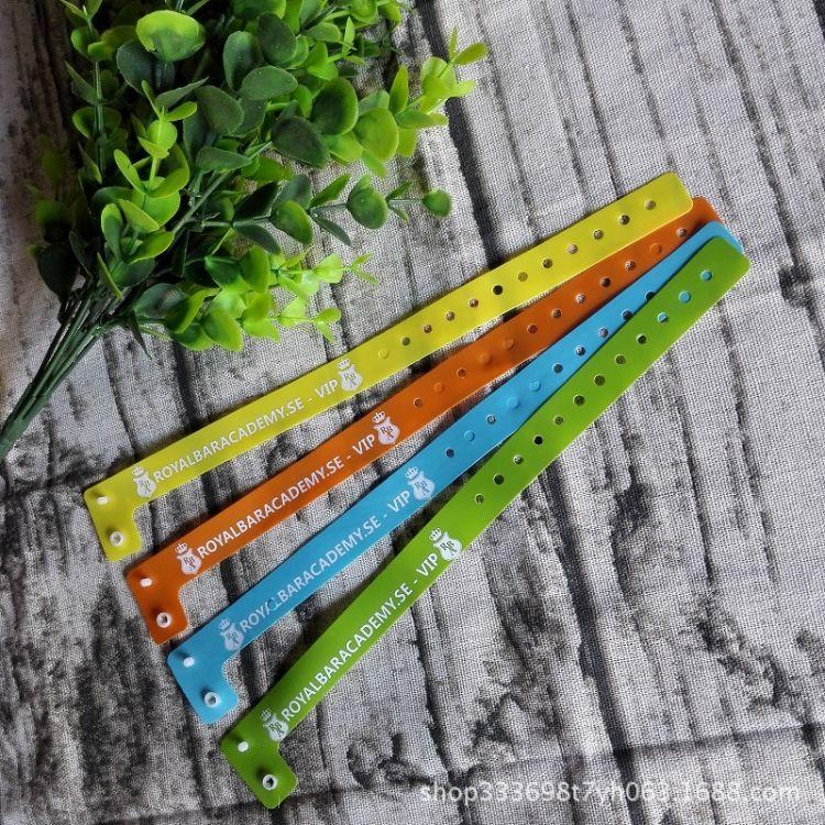 供应合成纸手腕带 一次性彩色PVC手腕带 防水识别手环 门票手带