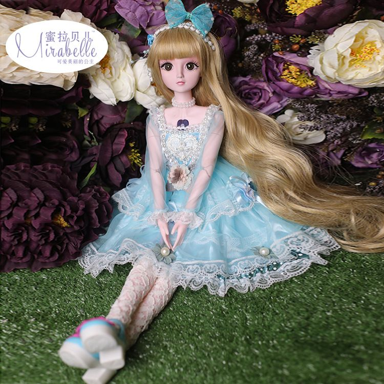 蜜拉贝尔蒂娜关节洋娃娃仿真公主套装娃娃创意搪胶娃娃送女孩儿童