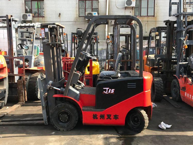 二手叉车 二手电瓶叉车 杭州J15电动叉车 电动叉车 1.5吨叉车