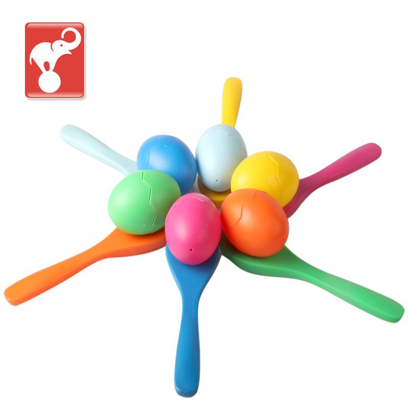 平衡托蛋蛋勺子游戏健身托鸡蛋平衡跑步中大班体育游戏玩具